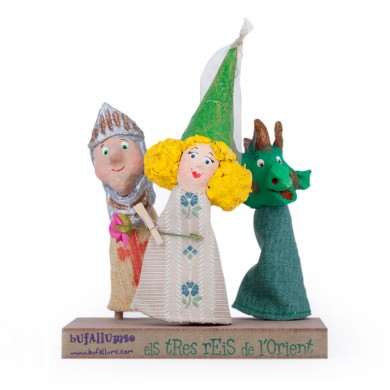 DRAGON AND PRINCESS FINGER PUPPETS