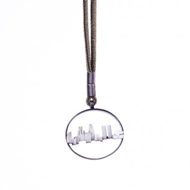 SKYLINE PENDANT ANTIQUE SILVER