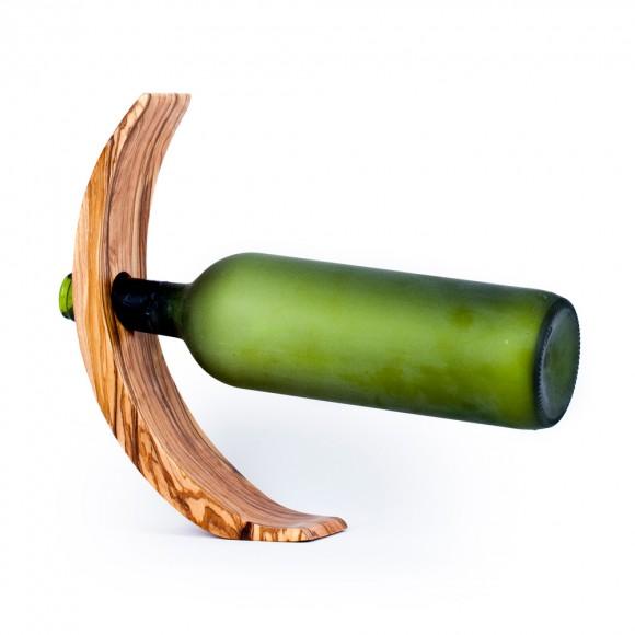 OLIVE WOOD BOTTLE HOLDER