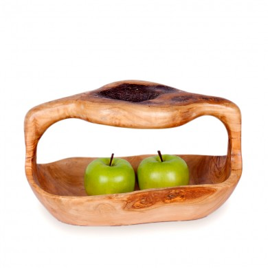 OLIVE WOOD BASKET