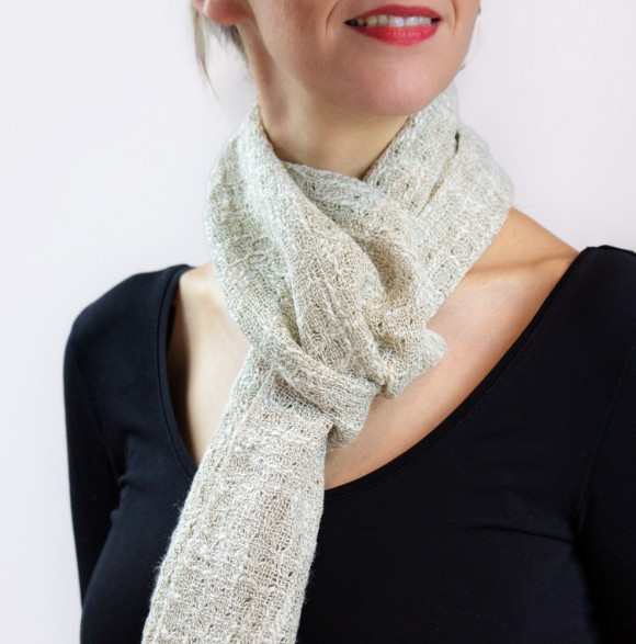 COTTON AND LINEN FOULARD